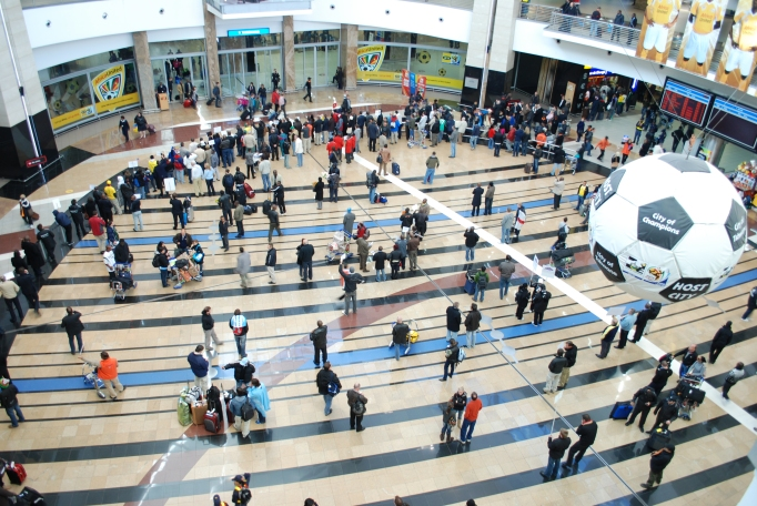 inside view of johannesburg airport
