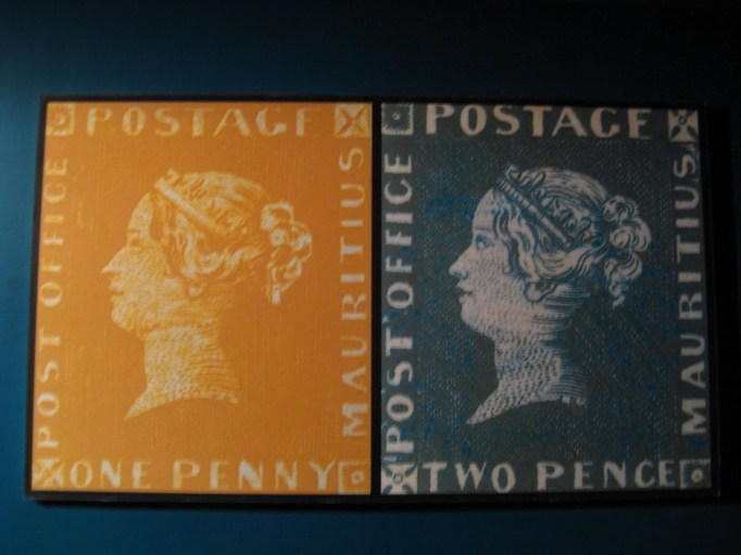 stamp in blue penny museum
