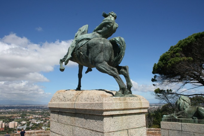 horseman, rhodes memorial, cape town, south africa