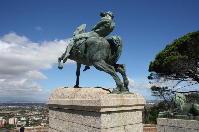 horseman, rhodes memorial, cape town, south africa