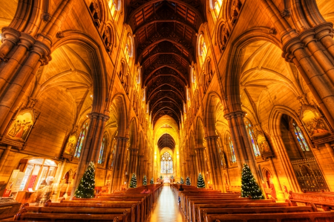 inside view of st mary's cathedral, sydney australia