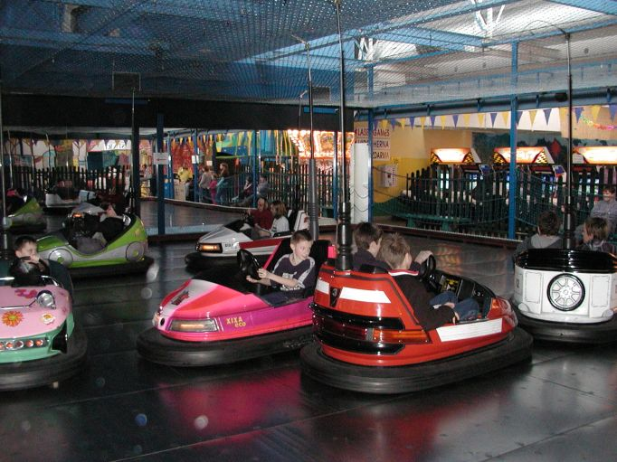 dodgems at luna park sydney australia