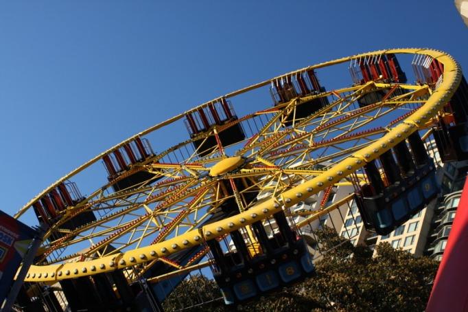 flying saucer at luna park sydney australia