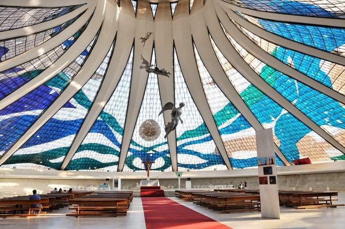 inside view of cathedral of brasilia