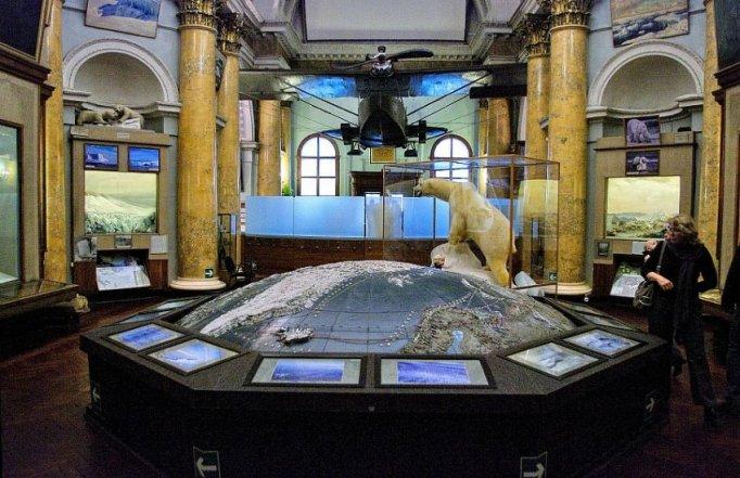 inside arctic and antarctic museum st petersburg