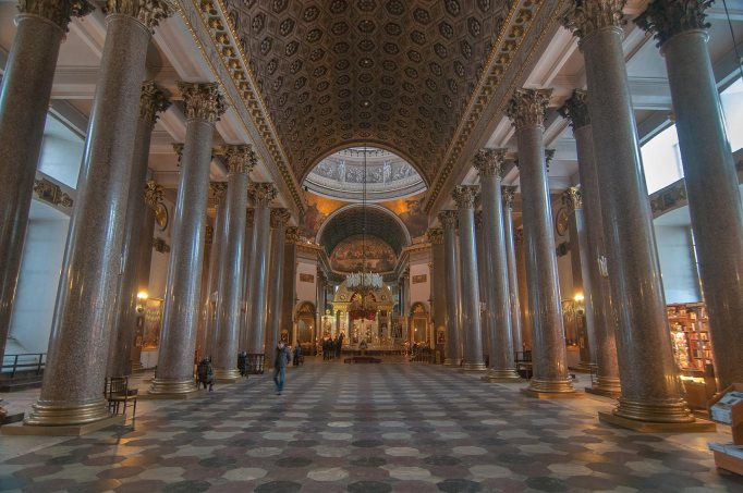 inside view of kazan cathedral, st. petersburg