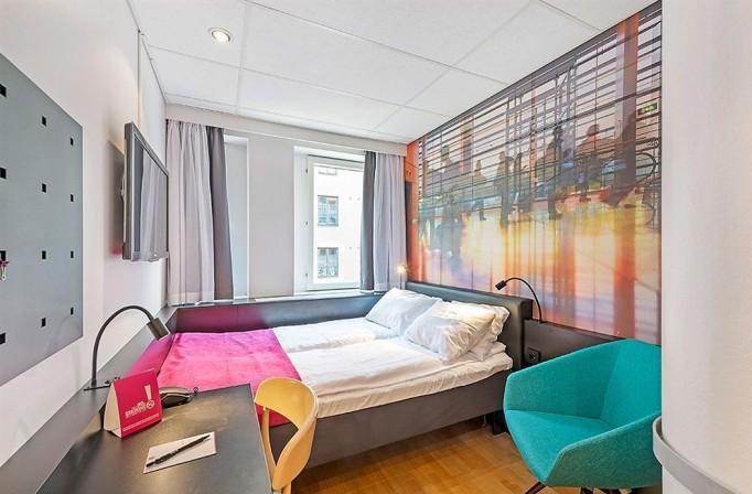 bedroom view of comfort hotel stockholm sweden