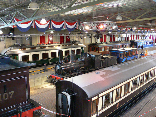 view of dutch railway museum