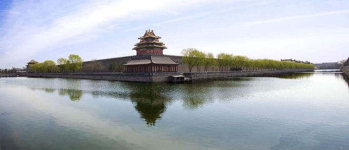 northwest corner tower view of forbidden city