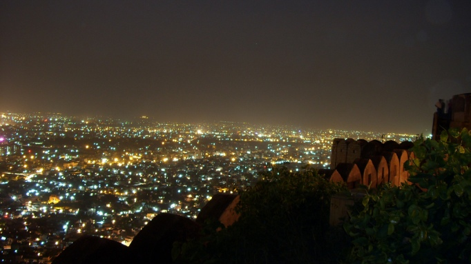 night view of pink city of jaipur