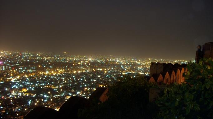 night view of pink city of jaipur