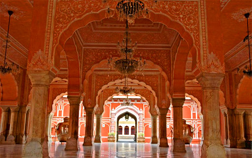 interior of the jaipur pink city palace